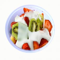 Fruta con yogur